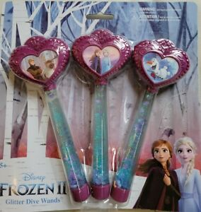 Disney Frozen II Glitter Dive Wands Fun Pool Water beach toy Elsa Anna Olaf NEW