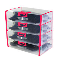 52*30*12cm Storage Shoe Boxes Clear Organiser Long Boots Storage Boxes Stackable