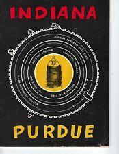1962 11/24 football program Purdue Boilermakers v Indiana Hoosiers FAIR