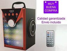 Altavoz portátil Bluetooth USB Con karaoke Mando a distancia Radio FM Tarjeta TF