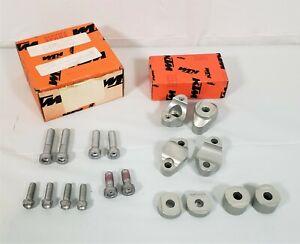 Genuine KTM 03-04 125 250 450 SXS SMS OEM Handlebar Support Bar Clamp Kit NOS