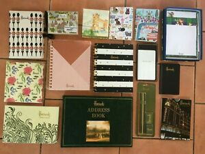 Harrods Stationery Set-Address Book-note pads-pencils-playing cards