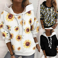 Women's Long Sleeve Hoodie Sweatshirt Pullover Blouse Casual Jumper Tunic Tops