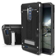 ZTE ZMAX PRO Case ZTE Carry Kickstand Hybrid Dual Layer Hard Protector Card Slot