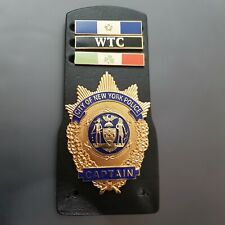 NYPD CAPTAIN BADGE with Holder and Citation Bars  POLICE NEW YORK Polizei