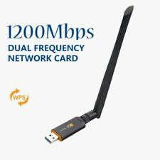 Dual Band 2.4/5Ghz 1200Mbps Wireless USB Wifi Network Adapter Antenna 802.11Ac