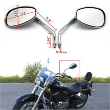 Chrome Oval Rear-view Mirrors 10mm For Kawasaki Vulcan VN 2000 1600 1500 800 500