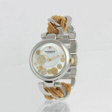 Akribos XXIV Silver and Gold Tone Watch