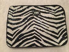 Victorias Secret PINK Laptop Case Zebra Print Sequin