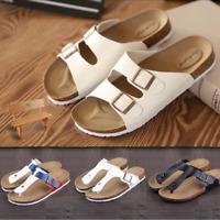 Flip Flops Summer Cork Sandals Slippers Womens Mens Lovers Beach Flats Shoes F/S