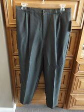 Ship n Shore Gray Olive Slacks Dress Pants, includes Black Belt 20W NEW w/TAGS!!