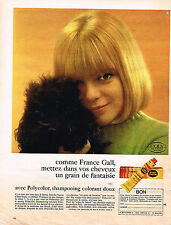 PUBLICITE  1966    POLY COLOR   shampoing colorant  FRANCE GALL