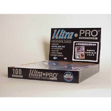 200 ULTRA PRO PLATINUM 4-POCKET Pages 3 x 5 Sheets Protectors Brand New in Box
