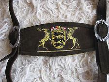 Trachten Hosenträger H Stegträger braun mit  Baden Württemberg Wappen neu  Pulsz