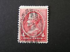 *UNITED STATES, SCOTT # 215,4c. VALUE CARMINE 1888 ANDREW JACKSON ISSUE USED