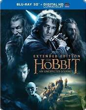 Hobbit: An Unexpected Journey (2D/3D Blu-ray/Digital HD; Steelbook, Extended NEW