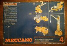 Ancienne boite de meccano N° 4 - En l'état