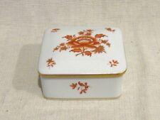 Herend Nanking Bouquet Rust Trinket Box