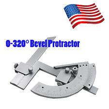 Precision 0-320° Angle Measuring Finder Bevel Protractor Tool Ruler Gauge in US