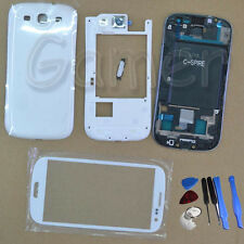 Full Housing Case + Glass Lens + Tools For Samsung Galaxy S3 Sprint L710 White