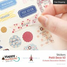 Petit Deco V2 Stickers Diary Planner Scrapbooking Decoration Stickers 8 sheets