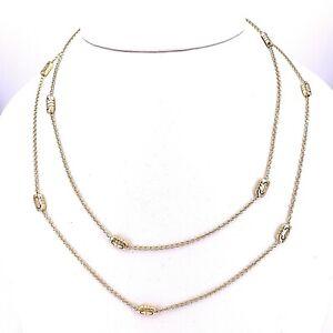 Vintage Bulgari (Bvlgari) Parentesi 18K Yellow Gold Necklace