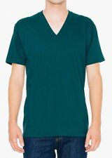 American Apparel Fine Jersey V Neck Tee T-shirt Short Sleeve 2456 Forest Large