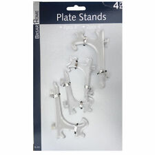 4 x Clear Plastic Display Plate Stand for Picture Frame Photo Pedestal Holder