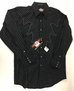 BROOKS AND DUNN COLLECTION by Panhandle Slim Mens Western Shirt Medium Horseshoe