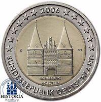 Deutschland 2 Euro Holstentor Lübeck Gedenkmünze 2006 Stempelglanz Mzz D