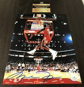 Michael Jordan Dunking Signed 8x10 Certified Photo Autograph Chicago Bulls