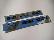Corgi  271 James Bond DB5  Number Plates Chrome Stickers - B2G1F