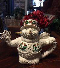 """Formalities Porcelain """"Snowman"""" Teapot by Baum Bros. New without Box"""