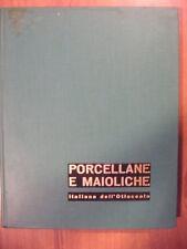 Valentino Brosio PORCELLANE E MAIOLICHE italiane dell'ottocento Vallardi ed 1950