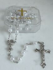 Girl First Communion Rosary Gift Boxed