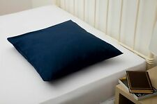 200TC Polycotton Continental Square European Pillow Case Navy Blue 65cm x 65cm
