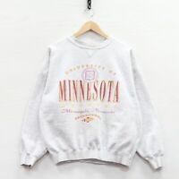 Vintage Minnesota Golden Gophers Sweatshirt Crewneck Size Small Gray 90s NCAA