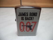 ZIPPO ACCENDINO LIGHTER 007 JAMES BOND IS BACK! NUOVO NEW.