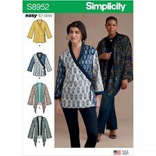 Simplicity 8952 Sewing Pattern Misses Size 4 XXS - 26 XXL Kimono Jacket