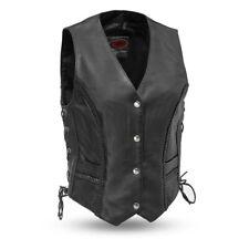 Ladies Braided Leather Vest Size Medium