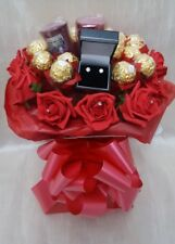 Ferrero Chocolate Bouquet & Earrings & Yankee Candles - Gift hamper