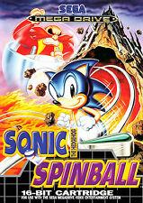 Lámina-Sonic The Hedgehog Spinball Sega Mega Drive (imagen Cartel Juego)