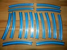 LEGO Conducting Rails blue train track 12V curved x16 vintage 70's 722 724 725