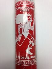 RUN DEVIL RUN UNSCENTED RED CANDLE IN GLASS (CORRE DIABLO CORRE)