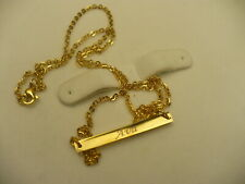 "personalized AVA name necklace gold colour 22.5"" bar script lettering fashion"