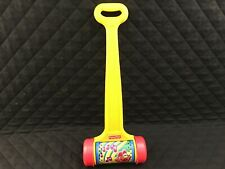 Gently Used Fisher Price Musical Chime Melody Push Roller Toy Yellow Handle 22in