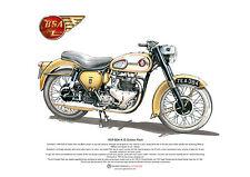 Bsa A10 Golden Flash Arte Cartel Tamaño A3