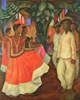 Print - Dance In Tehuantepec 1928 by Diego Rivera