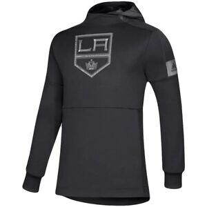 Adidas LA Los Angeles Kings Hoodie Black Hooded Sweatshirt NHL Hockey XL New