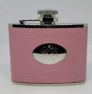 """Pink Leather Liquor Flask 4 Oz  Engraved Saying """"Girls Night Out"""""""